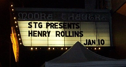 STG Presents Henry Rollins Jan 10STG Presents Henry Rollins Jan 10