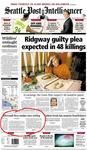 Seattle PI Front Page, 10/30/03