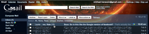 Managing Inbox Overload with Google Buzz