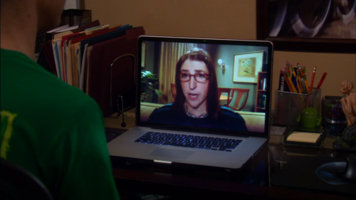 Big Bang Theory: Looking over Sheldon's shoulder during the videoconference