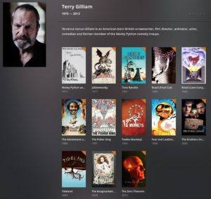 My Gilliam Film Collection